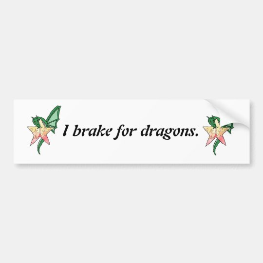 Fire Dragon Bumper Sticker