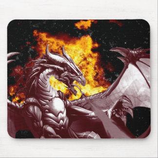 Fire Dragon Fantasy Mythical Mousepad