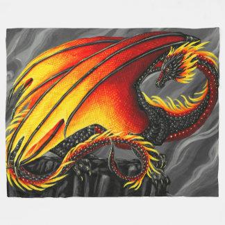 Fire Dragon Fleece Blanket