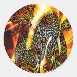 Fire dragon.jpg round stickers