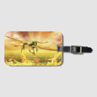 Fire Dragon Luggage Tag