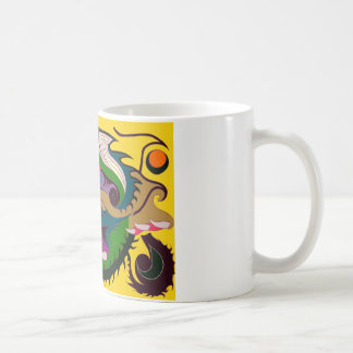 Fire Dragon (Red & Green on Gold) Coffee Mug