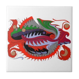 Fire Dragon (Red & Green) Tile