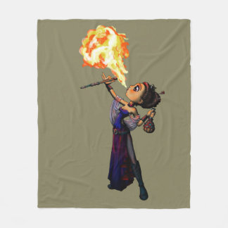 Fire Eater Fleece Blanket