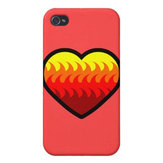 Fire Element Heart iPhone 4/4S Cover