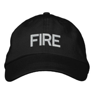 FIRE EMBROIDERED BASEBALL CAPS