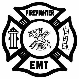 Fire EMT Photo Sculpture Decoration