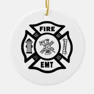 FIRE EMT ROUND CERAMIC DECORATION
