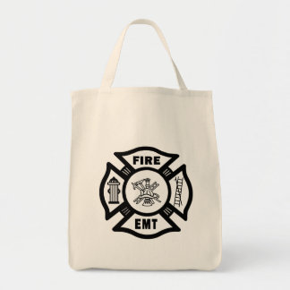 Fire EMT Grocery Tote Bag