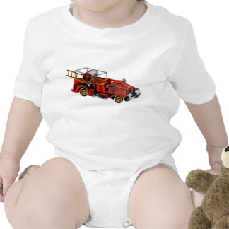 Fire Engine add your own Name Baby Bodysuit