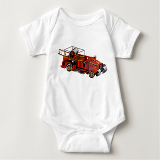 """Fire Engine """"add your own Name"""" Baby Bodysuit"""
