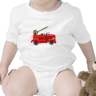 Fire Engine add your own Name Bodysuit
