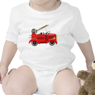 Fire Engine add your own Name Rompers