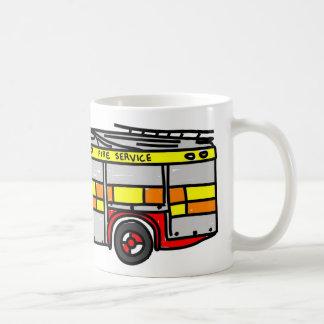 Fire Engine Basic White Mug