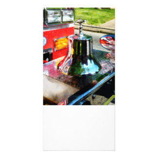 Fire Engine Bell Photo Card Template
