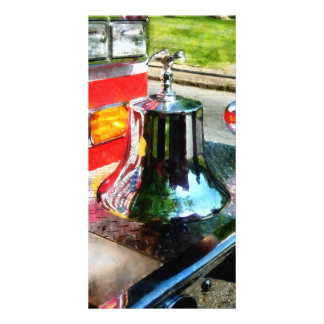 Fire Engine Bell Personalized Photo Card