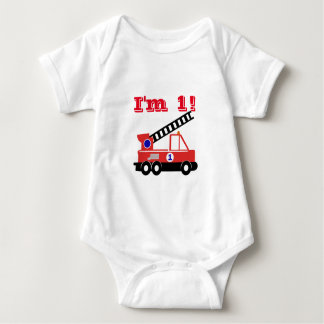 Fire Engine Birthday Baby Shirt