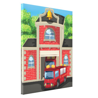 Fire Engine Canvas Print