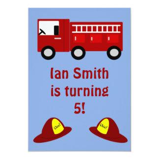Fire Engine Children's Birthday Party Invitations