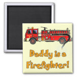 Fire Engine Daddy Firefighter T-shirts and Gifts Magnets
