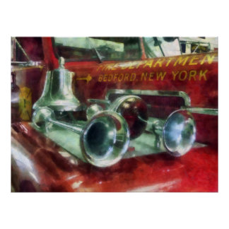 Fire Engine Horns and Bell Poster