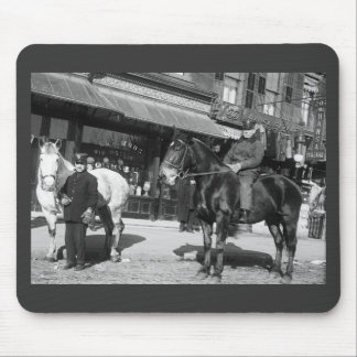 Fire Engine Horses, 1910 Mouse Pad