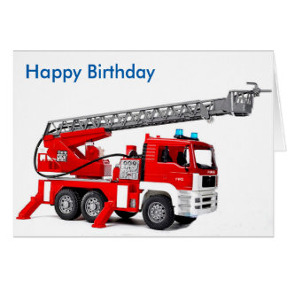 Fire Engine image for birthday-greeting-card Greeting Card