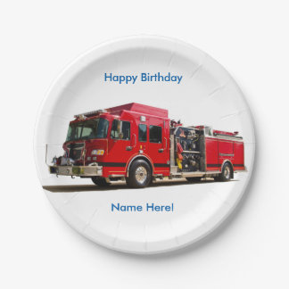 Fire Engine image for Custom-Paper-Plates Paper Plate