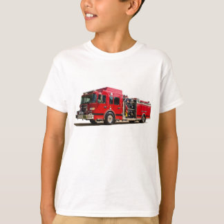 Fire Engine image for Kids-T-Shirt-White T-Shirt