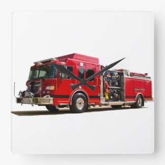 Fire Engine image for Square-Wall-Clock Square Wall Clock