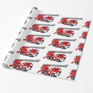 "Fire Engine image  Glossy Wrapping Paper, 30"" x 6' Wrapping Paper"