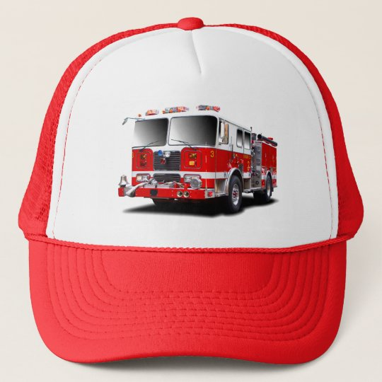 Fire Engine images for trucker hats