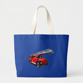 Fire engine large tote bag