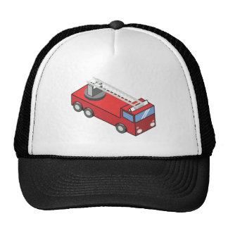 Fire engine mesh hat