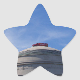 Fire Engine on top of building Star Sticker