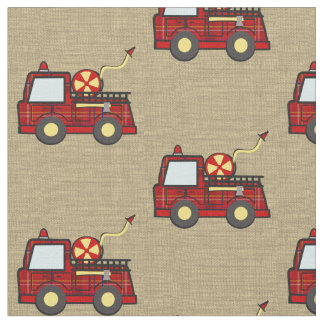 Fire Engine Plaid Fabric