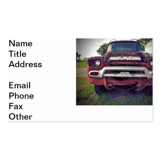 Fire Engine Red Business Card Template