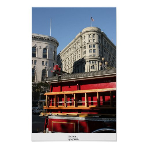 Fire Engine, San Francisco Poster