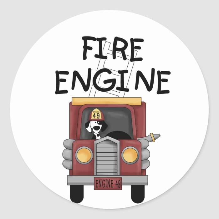 Fire Engine T-shirts and Gifts Round Sticker