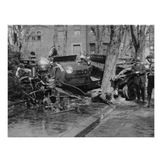 Fire Engine Wreck, 1922 Poster