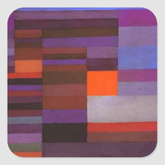Fire evening by Paul Klee Square Sticker