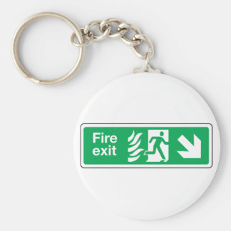 Fire Exit Keychain