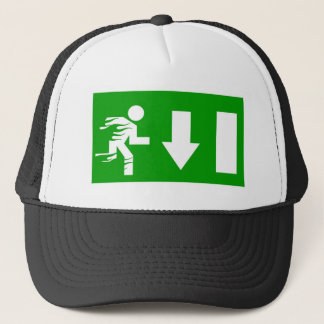 fire exit trucker hat