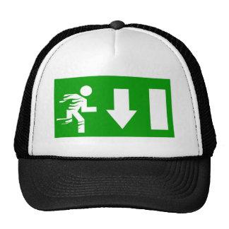 fire exit trucker hat