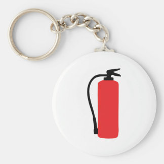 fire extinguisher basic round button key ring