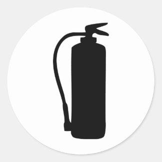 fire extinguisher classic round sticker