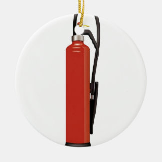 Fire extinguisher design christmas ornament