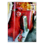 Fire Extinguisher on Fire Truck Greeting Card