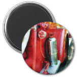 Fire Extinguisher on Fire Truck Refrigerator Magnet