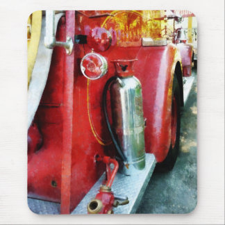 Fire Extinguisher on Fire Truck Mouse Pad
